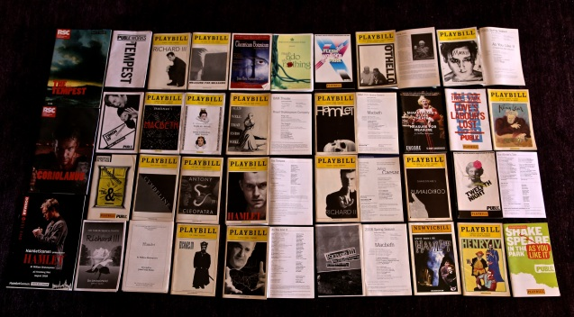 Day 112:3 Shakespeare playbills