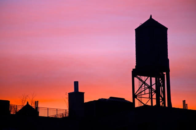 Day 17:4 Watertower at sunset