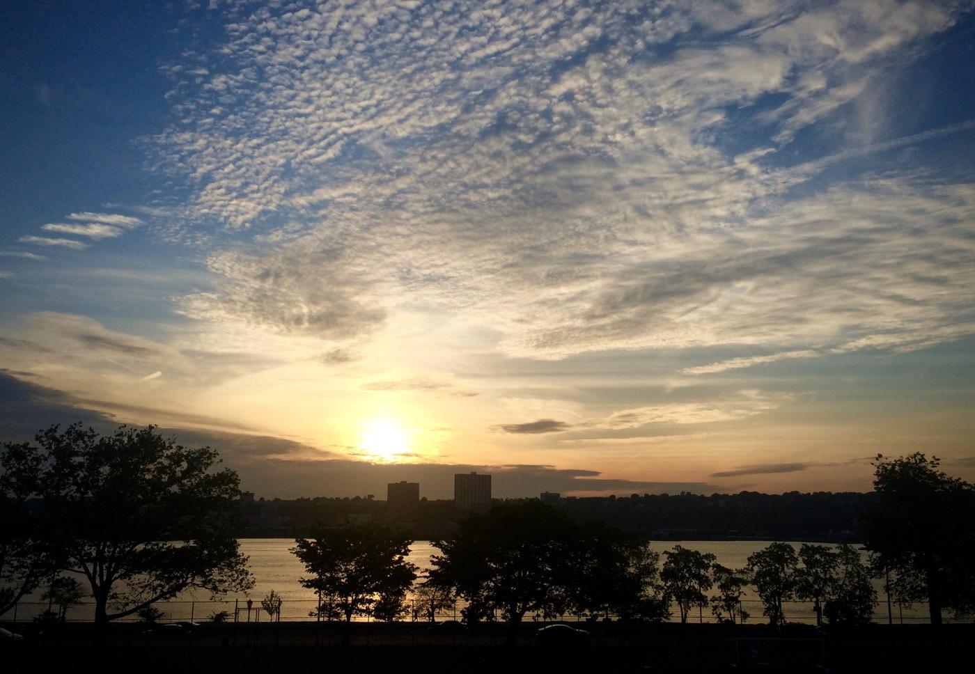 Day 144/4 riverside run at sunset
