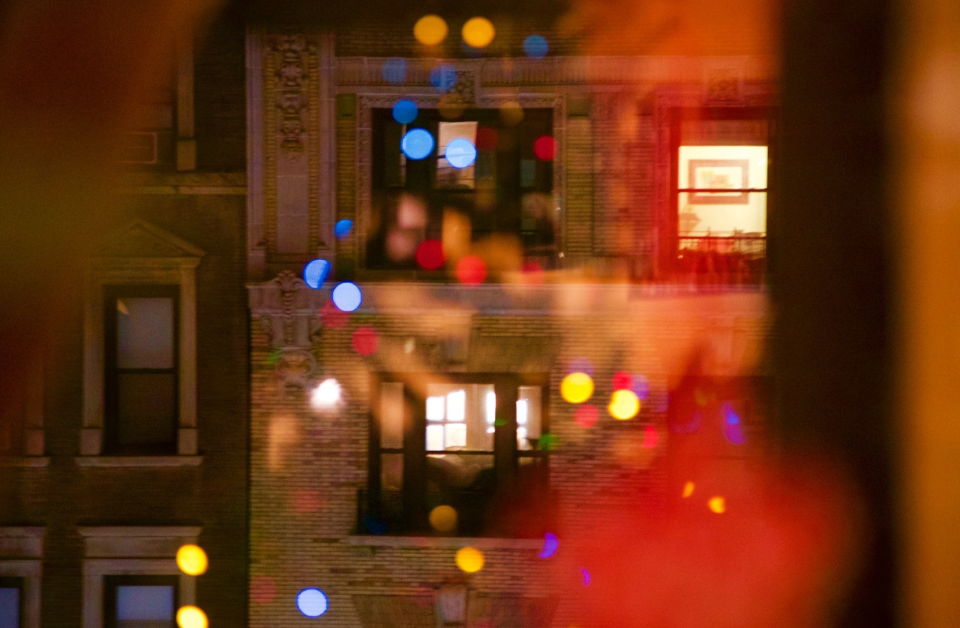 Day 5/6 christmas lights in window
